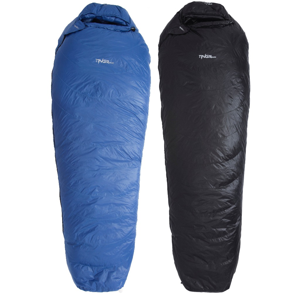 Tingroam Sleeping bag of 800 fill power goose down for -10 degrees Celsius outdoor camping QINGYUN 550g filling L and R size sleeping bag of 800 fill power goose down for 18 degrees celsius outdoor camping qingyun 700g filling l and r size