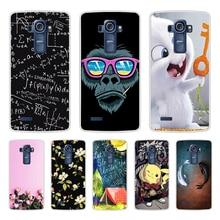 Caixa do telefone Para LG G4 TPU Silicone Macio Gato Bonito Flor Pintado Tampa Traseira Para LG G4 H810 H815 H818 caso