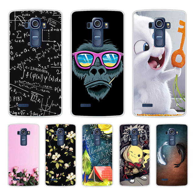 Phone Case For LG G4 Soft Silicone TPU Cute Cat Flower Painted Back Cover For LG G4 H810 H815 H818  Case