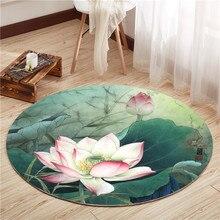 Ретро Китайский круглый ковер для Гостиная Компьютер стул, коврик для йоги гардероб круглый коврик домашние мягкие круглый ковер в детской комнате