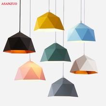 Macaron Multicolor luces colgantes Industrial decoración de Loft lámpara colgante de hierro para cocina luminaria de suspensión para sala de estar E27 Led