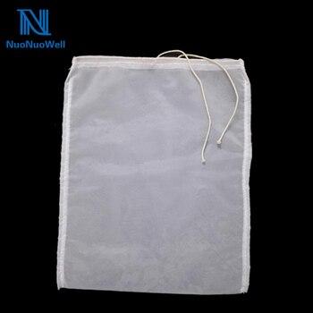 NuoNuoWell 120/200/300 de nailon bolsa filtro de malla con cordón herramienta de elaboración de vino de uva 20x3 0 cm/30x40 cm DIY bolsa separadora de orugas