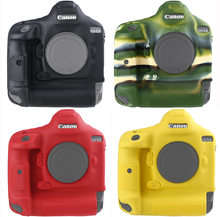Lightweight Camera Bag Case Protective Cover for CANON 1DX MARK II 2 1DXII 1DX2 Black Camouflage yellow red colour(China)