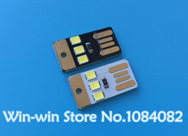 Active Components Black Led Lamp Bulb Keychain Pocket Card Mini Led Night Light Portable Usb Power