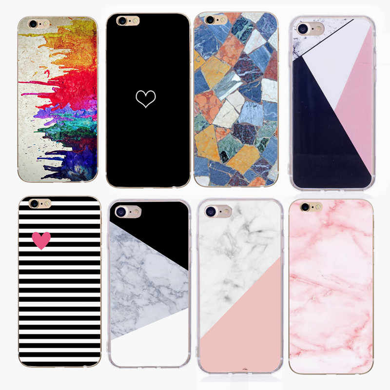 For iphone X case Simple Marble Graffiti TPU Case for iphone 8 8Plus Silicone case for iphone 6 7 7plus 5 5S SE SX 10 oft shell