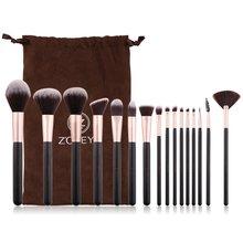 12/15/16/18/20 pcs Brush Set Animal Hair Wool Beauty Makeup Tools Portable Universal Full