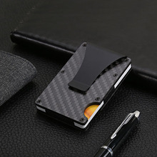 Men Women Credit Card Holder Anti Protect Blocking Rfid Wallet Portable ID Cardholder Clip Porte Carte Travel Metal Case