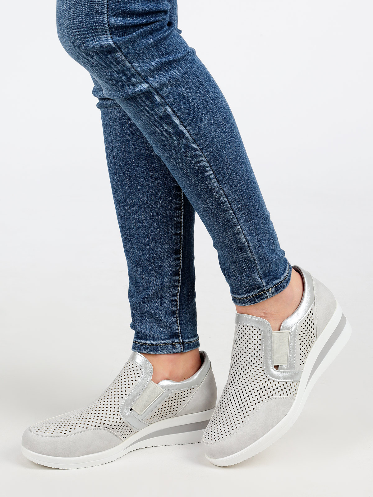 Sneakers Slip On Wedge