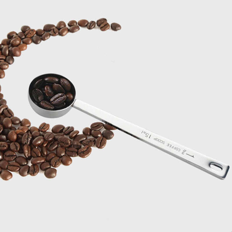 1 шт. ложка из нержавеющей стали для кофе, мороженого, мерная ложка для молока, ложка для фруктов, дыни, кухонные инструменты, ложка для супа, сахара, десерта