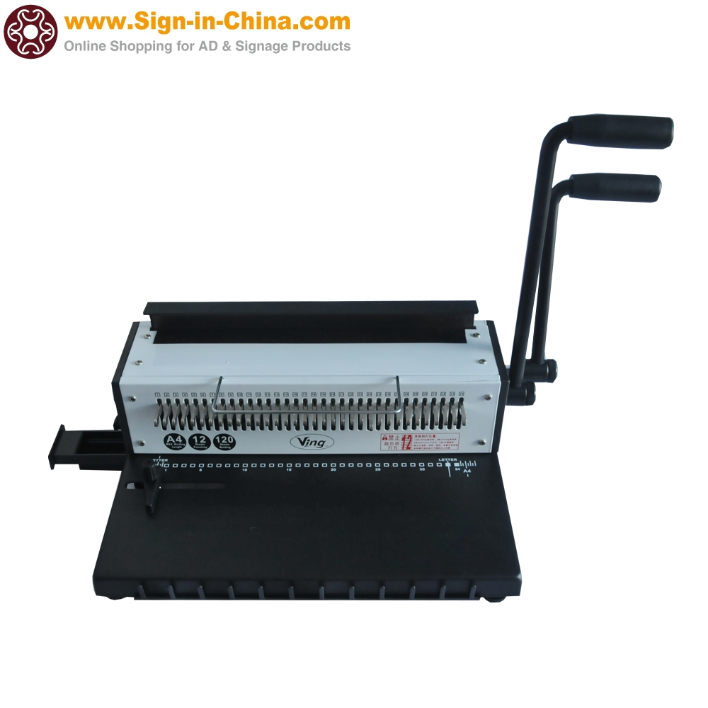 us stock34 holes metal wire punching binding machine 130 sheet paper binder puncher scrapbook office