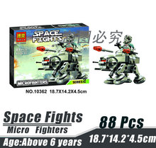 Bela 10362 Star Wars Space Wars Micro Fighters AT-AT Mammoth Air Minifigures Building Block Minifigure Toy Compatible with Legoe