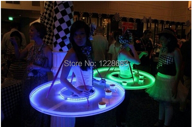 New Stage Show LED Light Up Bar Serving Table UFO DS Birthday Party Performance Costume Dress Clothing Show Waiter Led Tray