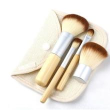 4pcs Portable Bamboo Make up Brushes Superior Professional Soft Cosmetic Brush Set Woman's Kabuki Brushes kit Makeup Brusher