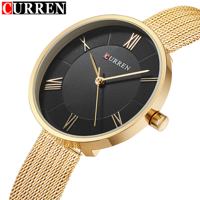 CURREN Women Watches Luxury Brand Fashion Quartz Ladies Stainless Steel Bracelet