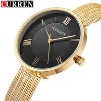 CURREN Women Watches Luxury Brand Fashion Quartz Ladies Stainless Steel Bracelet Watch Casual Clock Montre Femme
