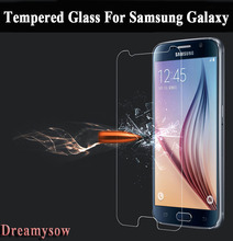 Top 9H Tempered Glass For Samsung Galaxy S2 S3 S4 S5 S6 A3 A5 A7 2016 Core Grand Neo Plus J1 Mini J2 J5 J7 Prime Film Case