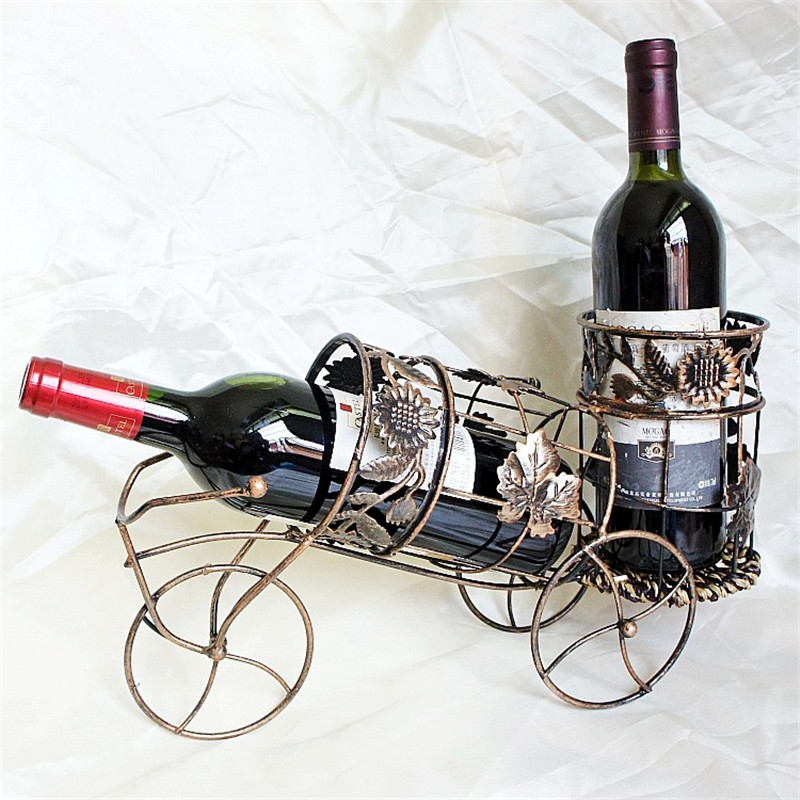 Reteo Metal Cube Wine Holder New iron bionic design Red Wine Rack Home Beer whisky Bottles Support Tool Furnishings Accessories ...