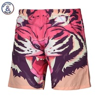 Summer beach shorts men 3d digital print Ferocious tiger lovely casual shorts short pants