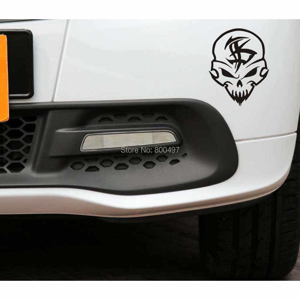 Hài hước Sọ Dán Xe Ghost Rider Trang Trí Decal cho Toyota Renault Chevrolet Volkswagen Tesla Opel Hyundai Kia Lada