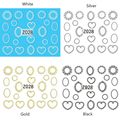 Ultrathin Adhesive Nail Sticker 1 Sheet  Bowknot Necklace Crown Peach Circle Design Posted Frame Nail Art DIY Decoration
