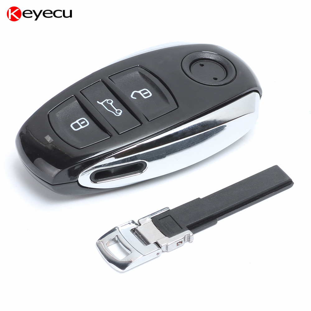 Keyecu Smart Remote Key 3 Button 315MHz/ 433MHz/ 868MHz PCF7953 Chip for VW Volkswagen Touareg 2011-2014 With Small key new updating smart key for benz 3 button 433mhz 315mhz easy to create a new key for mecerdes good quality