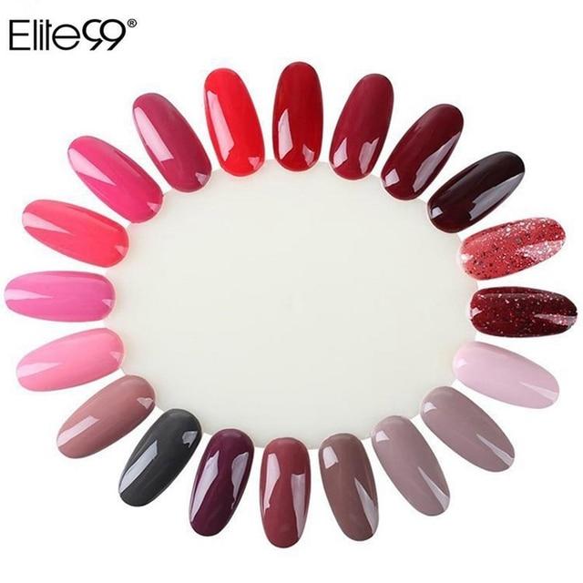 Elite99 10Pcs Display Wheel Polish Color Chart Practice False Nails ...