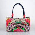 2016 New National women tote bag embroidered Ethnic Cross-body features Cotton embroidery colorful handbag shoulder bag