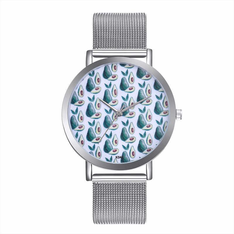 FUNIQUE Reloj Mujer פלדה רשת זוג Quartzwatch אופנה אבוקדו נשים שעון שעון גברים עסקים שעונים שעוני יד