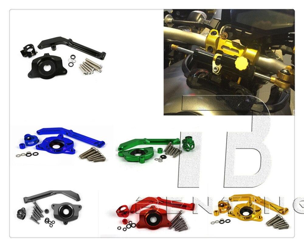 Рулевой демпфер мотоцикл с ЧПУ Кронштейны наборы для Кавасаки z1000 Z от 1000 2014 2015 2016