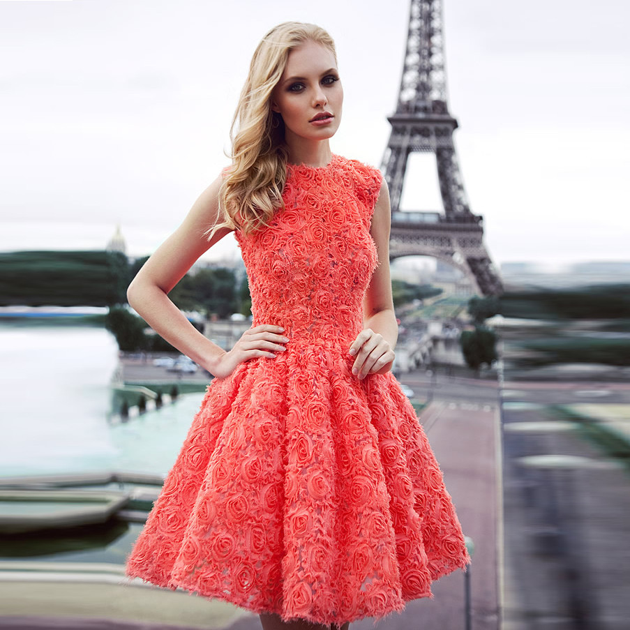 Coral colored cocktail dresses - Dress collection 2018