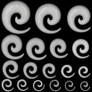Showlove 2 шт. акриловые спиральные амбушюры, растягивающие пробки и вытягивающие тоннели, ювелирные изделия для пирсинга (1,2-14 мм)