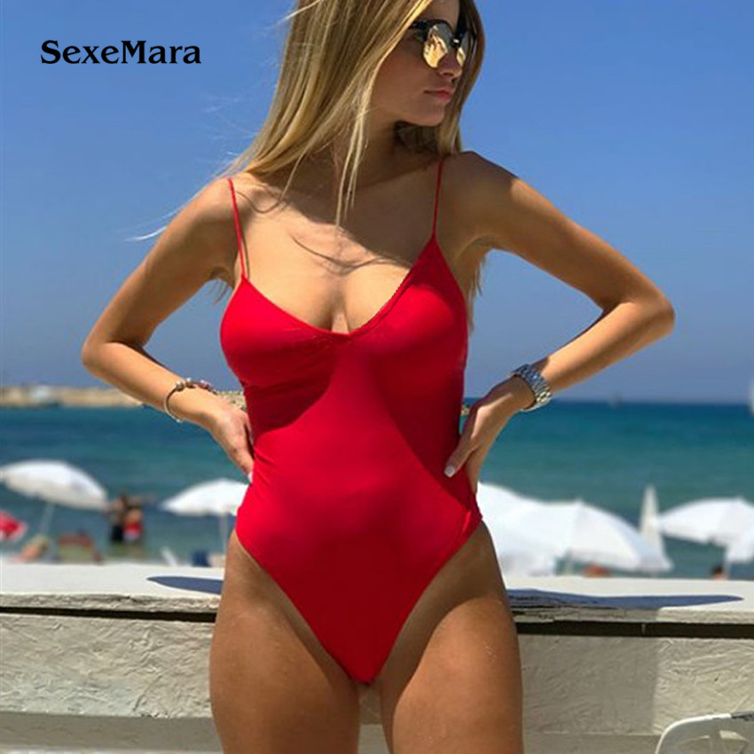 Backless Thong 2018 Sexy Women One Piece Swimsuit Bathing Suits Swimwear Female Beachwear Monokini one piece swimsuit sexy monokini biquini beach wear swimwear one piece bathing suits swimwear women one piece monokini swimsuit