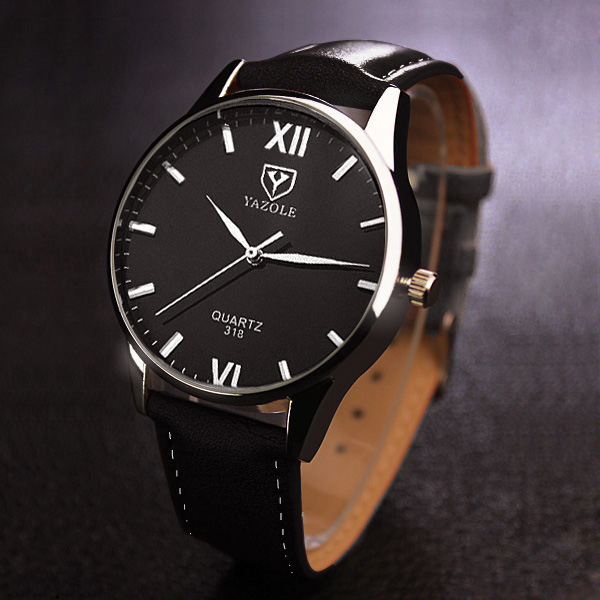 Quartz Watch Men 2016 Top Brand Luxury Famous Wristwatches Male Clock Leather Wrist Watch Business Fashion Casual Dress Watches