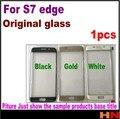 1 шт. Оригинальный Темный Черный белое Золото Сенсорный Экран Стекло Объектива Для Galaxy S7 Edge G935F Внешний Стеклянный Объектив ремонт