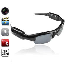 3be6d9282fff Мини камера с аудио Звук Видео регистраторы Велосипедный спорт велосипед  Защита от солнца очки Cam шлем камера DV откровенный ня.