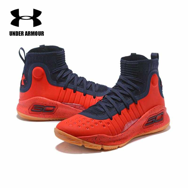2537467b3519 Under Armour Men Basketball Shoes Curry 4 sock sneakers Stephen Curry  Training Boots Outdoor Lace-