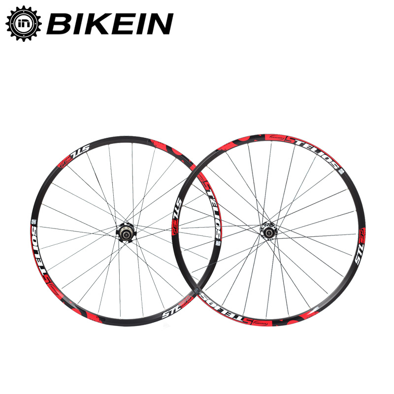 BIKEIN Aluminum 8/9/10/11 Speed Disc Brake Mountain Bicycle Wheelset 7 Bearing 120 Sounds Hub 6 Colors Rim 26/27.5 Bike Wheels велосипедная цепь kmc 1 6 7 8 9 10 6 7 8 9 10 speed
