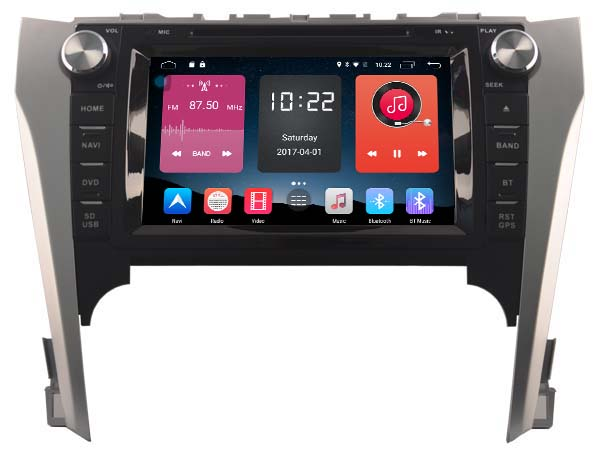 4G lite 2GB ram Android 6.0 quad core car dvd player stereo radio navi gps tape recorder for toyota camry 2012-2014 head units