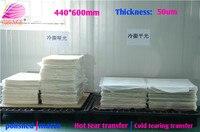Película de liberación PET de transferencia de calor 100 hojas por paquete 48cm * 64 cm/espesor de la hoja 50 película de PET micrón