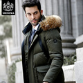 Novatex high quality thickening fashion long design commercial large fur collar with a hood down coat male men'S JACKT
