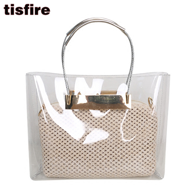 fc1500814 Tisfire marca mujeres bolsos de moda bolsa de playa bolsa de plástico  Transparente y esparcir bolsas
