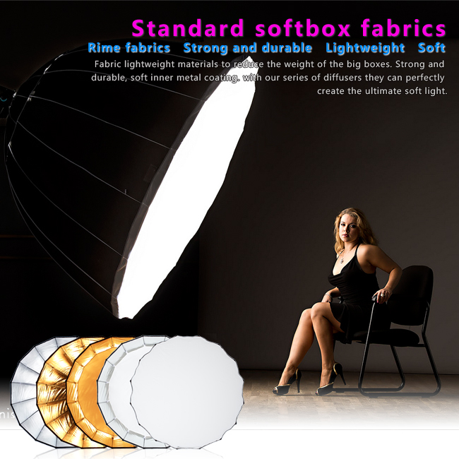 Selens 120cm Hexadecagon Deep Umbrella Softbox Foldable Diffuser Reflector for Canon Nikon Sony Speedlight selens 65cm diffuser reflector parabolic umbrella beauty dish softbox for off camera flash