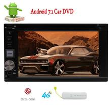Android 7.1 Car Radio Stereo 2 din in Dash Video Player dvd cd Navigator Bluetooth WiFi GPS Navigation Free Map support Wifi 4G