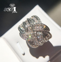 YaYI biżuteria moda księżniczka Cut 5 5 CT biały cyrkon srebrny kolor pierścionki zaręczynowe obrączki ślubne pierścionki Party prezenty tanie tanio TRENDY Geometryczne Zaręczyny Zespoły weselne yayi jewelry HR0021 Miedzi Kobiety Prong ustawianie Cyrkonia 14mm Good Mood