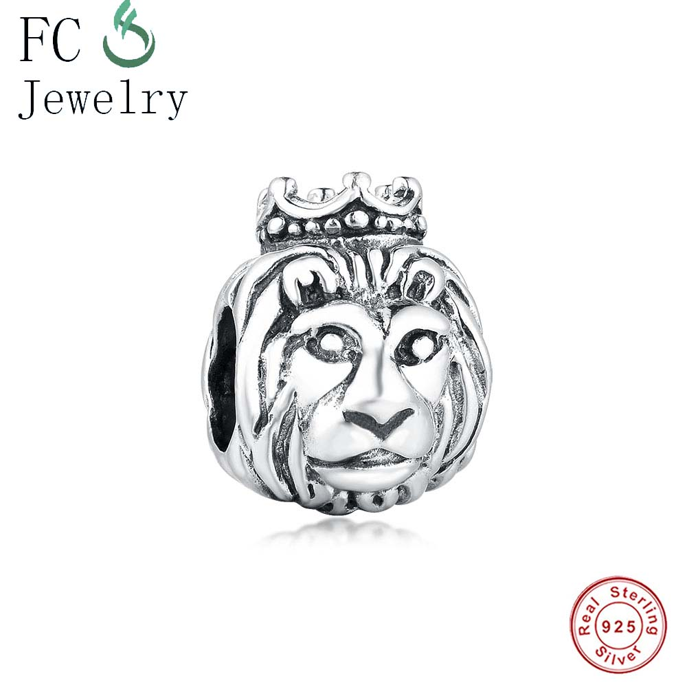 a1ebb0ead Detail Feedback Questions about Fit Original Pandora Charms Bracelets 925  Sterling Silver Beads Lion King With Crown Beads DIY Jewelry Berloque  Christmas ...