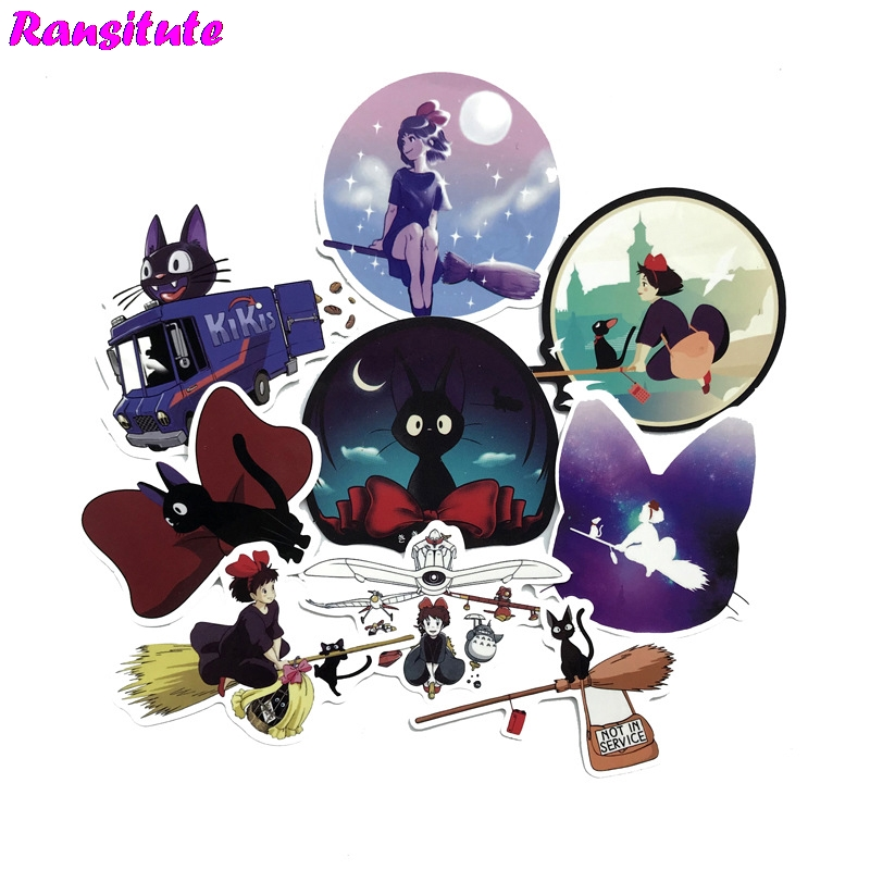 15pcs/set Fantasy Cat PVC Waterproof Fun Sticker Toy Luggage Sticker Motorcycle And Luggage Notebook Sticker
