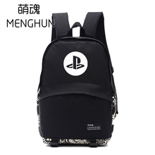 Cool black game fans backpack PS series backpacks for game fans  cool game console inspired PS icon printing backpack NB144 cool hot game concept backpack fortnite backpacks nylon school bag game fans backpack nb253