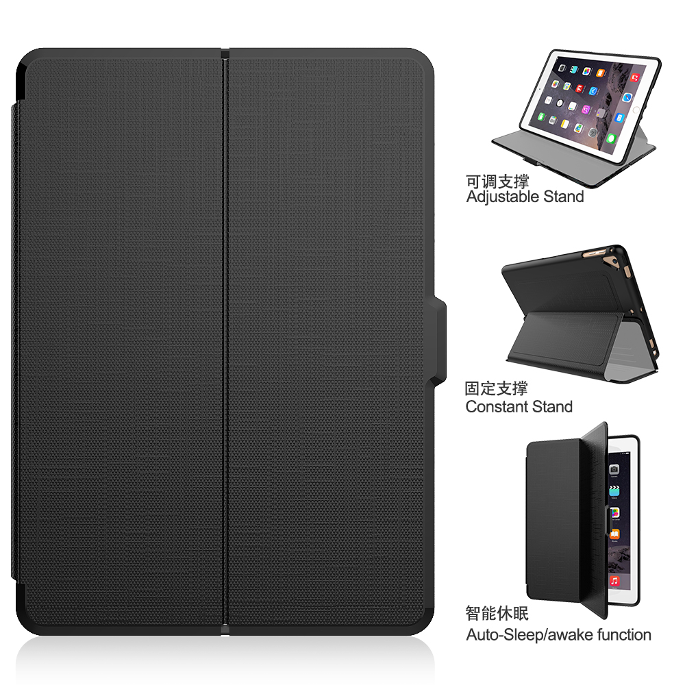 Smart Ultra Slim Lightweight Flip Stand Cover with Hard Back Cover for iPad Pro 9.7 Case 2018 2017 6th 5th Generation Air 2