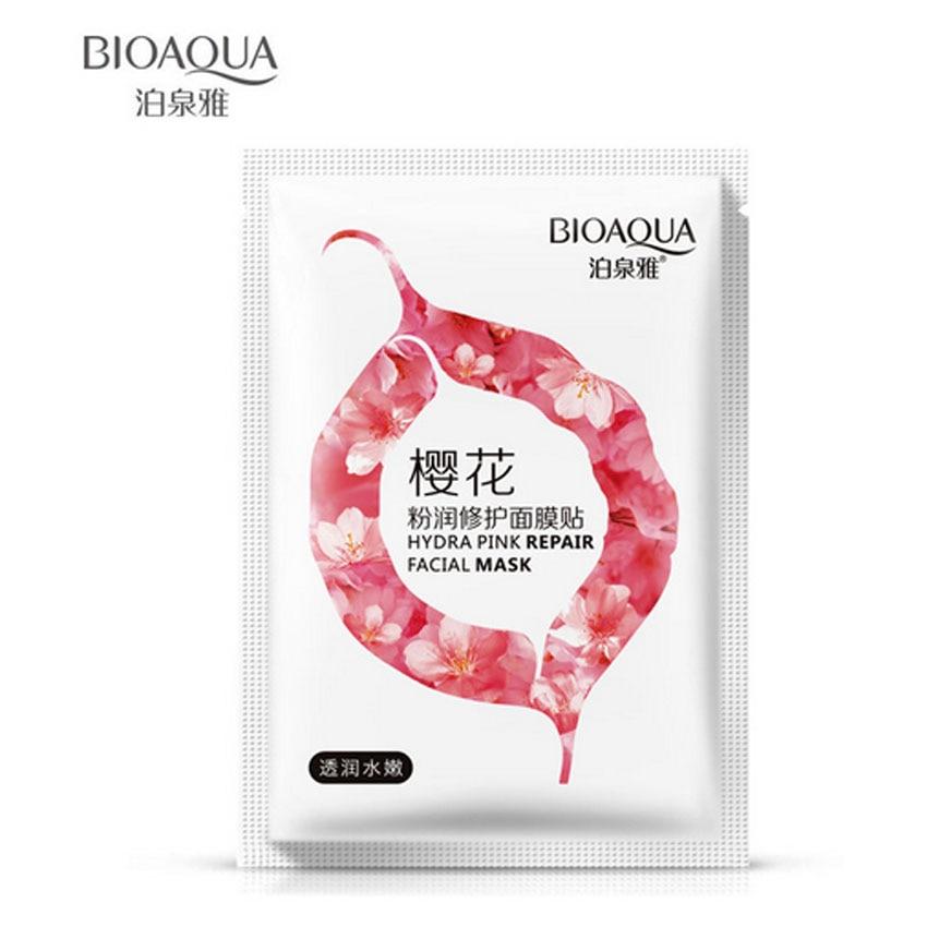 BIOAQUA Cherry Blossom Extract Facial Mask Whitening Hydrating Moisturizing Lasting Moisture Sakura Mask Skin Care