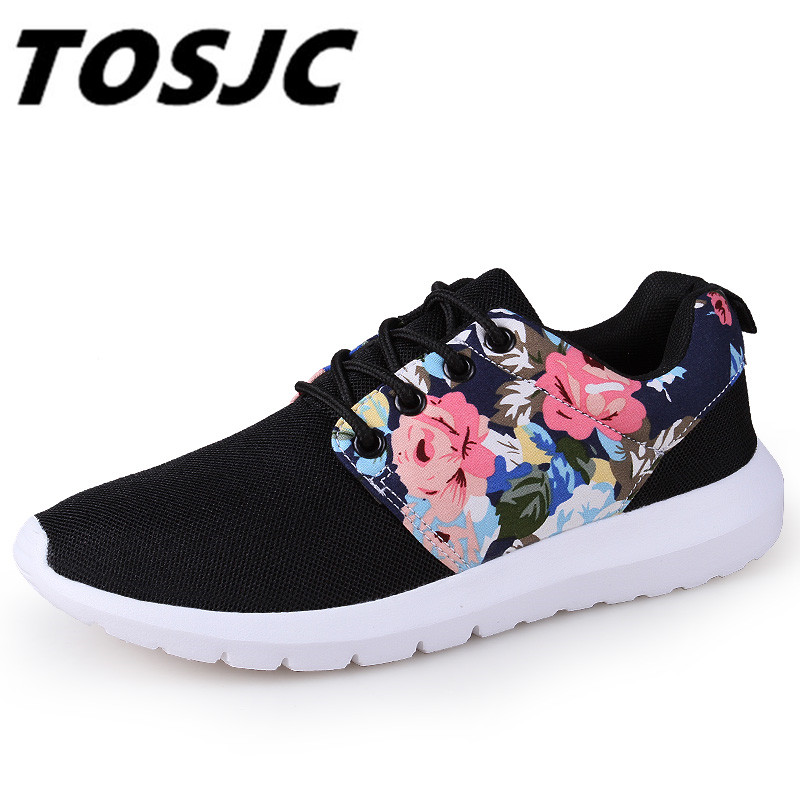 TOSJC 2018 New Woman Flat Light Sneakers Summer Breathable Mesh Female Casual Shoes Lady Walking Outdoor Comfortable toursh 2018 summer women shoes light sneakers breathable mesh beach shoes female cheap casual outdoor lady walking flats shoes